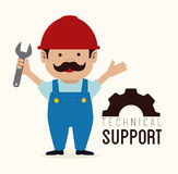 Technical support design Stock Photo