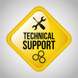 Technical support. Design, vector illustration eps10 graphic Stock Images