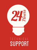 Technical support design ,vector illustration. Stock Photography