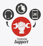 Technical support design ,vector illustration. Royalty Free Stock Image