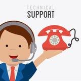 Technical support design ,vector illustration. Stock Photos