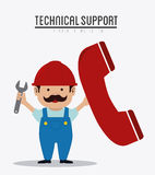 Technical support design ,vector illustration. Stock Images