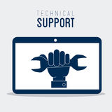 Technical support design ,vector illustration. Royalty Free Stock Photography