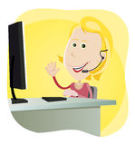 Technical support Girl Stock Photos