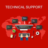 Technical support illustration. Customer support concept. Royalty Free Stock Image