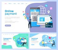Technical Support and Online Payment, Transaction stock illustration