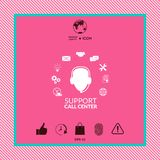 Technical support operator flat icon. Graphic element for your design Royalty Free Stock Photo
