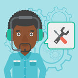 Technical support operator vector illustration. Royalty Free Stock Photography
