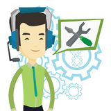 Technical support operator vector illustration. Royalty Free Stock Photo