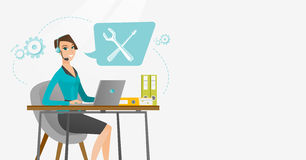 Technical support operator vector illustration. Royalty Free Stock Images