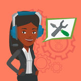 Technical support operator vector illustration. Stock Photos