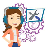 Technical support operator vector illustration. Stock Image