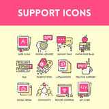 Technical support and service icon set Royalty Free Stock Photo
