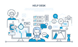 Technical support, system consulting clients. Technical support, help desk, system consulting clients, means of communication and modern information technologies Royalty Free Stock Images