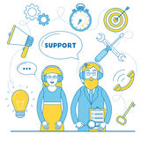 Technical support team Royalty Free Stock Photo
