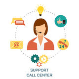 Technical support woman operator Stock Images