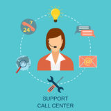 Technical support woman operator Stock Photography