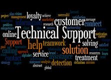 Technical Support, word cloud concept 5 Stock Photos
