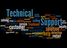 Technical Support, word cloud concept 9 Stock Photography