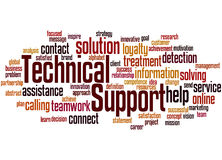 Technical Support, word cloud concept 3 Royalty Free Stock Image