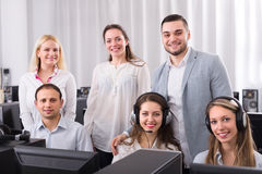 Technical support working in call center Royalty Free Stock Image