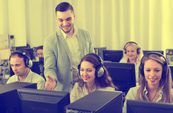 Technical support working in call center Royalty Free Stock Photo