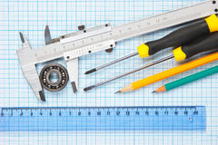 Technical tools Royalty Free Stock Photo