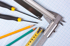 Technical tools Royalty Free Stock Photos