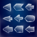 Technical translucent arrows set Stock Photography