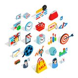 Technical trifle icons set, isometric style. Technical trifle icons set. Isometric set of 25 technical trifle vector icons for web isolated on white background Royalty Free Stock Photos