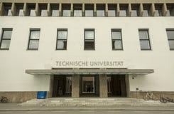 Entrance at Technische University in Munich, Germany. The Technical University of Munich TUM German: Technische Universität München is a research royalty free stock photos