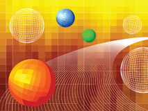 Technical vector background. With curves and spheres Stock Images
