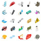 Technical work icons set, isometric style Royalty Free Stock Photography