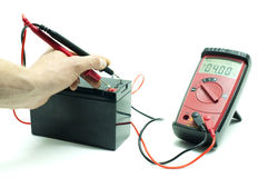 Technicial testing battery Stock Images