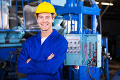 Technician arms crossed. Portrait of young technician with arms crossed Royalty Free Stock Image