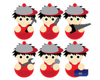 Technician Cartoon illustration. Icon Stock Photography