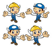 Technician Character It is OK gesture of both hands. Royalty Free Stock Photography