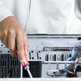 Technician computer Stock Images