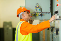 Technician control box royalty free stock images