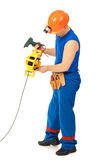 Technician with with electrical tools Stock Photos