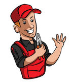 Technician. Eps 10  illustration Design Royalty Free Stock Image
