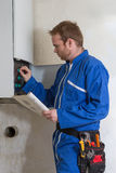 Technician  for heating system Royalty Free Stock Photo