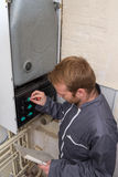 Technician  for heating system Royalty Free Stock Image