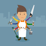 Technician and Maintenance. Technician and Maintenance, illustration vector design Stock Photo