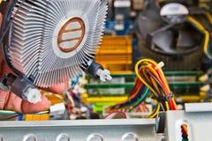 Technician repairing computer Stock Image
