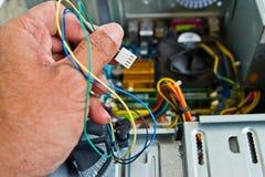 Technician repairing computer Royalty Free Stock Photo