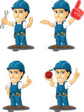 Technician or Repairman Customizable Mascot10 Stock Photography