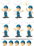 Technician or Repairman Customizable Mascot 17. A vector set of a male repairman in several poses. Drawn in cartoon style, this vector is very good for design Royalty Free Stock Photography