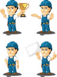 Technician or Repairman Customizable Mascot 5. A vector set of a male repairman in several poses. Drawn in cartoon style, this vector is very good for design Royalty Free Stock Images