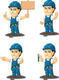 Technician or Repairman Customizable Mascot 9 Stock Photos